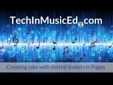 Creating tabs with a dotted leader (Great for concert programs)