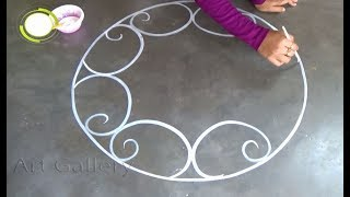 New Year Special Big Rangoli designs Road designs for new year