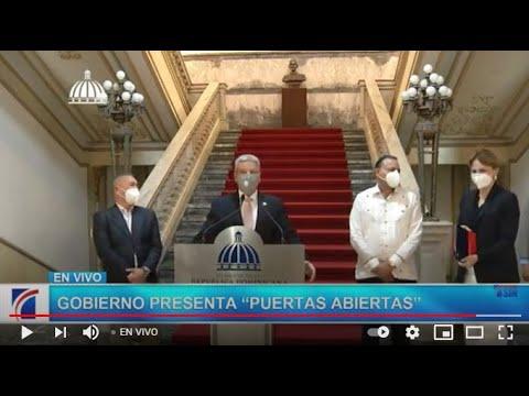 """EN VIVO  Gobierno presenta """"Puertas Abiertas """""""