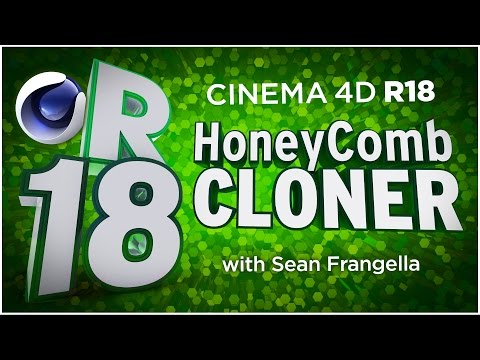 Cinema 4D R18 - MoGraph HoneyComb Array, New MoGraph Animation Feature, Tutorial