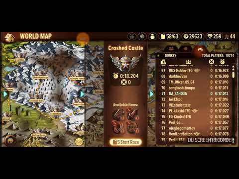 Trials frontier crashed castle beating gt Dave top 90