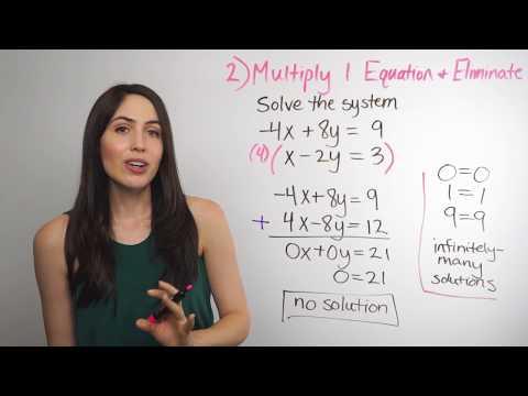 Solving Systems of Equations... Elimination Method (NancyPi)