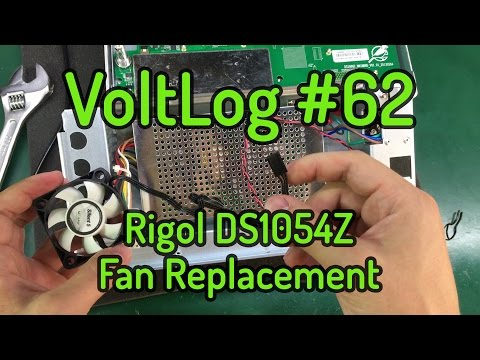 Voltlog #62 - Rigol DS1054Z Fan Replacement