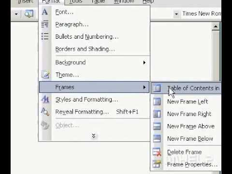 frame in microsoft word
