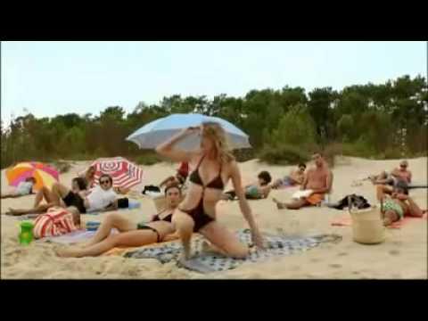 Прикол на пляже очень смешно