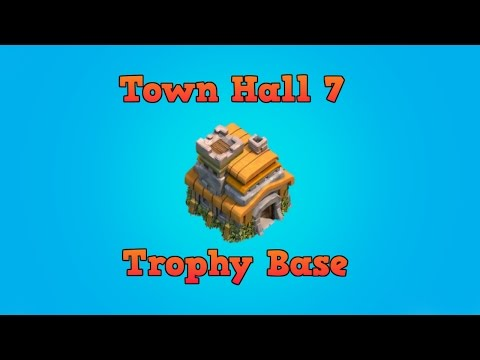 Town Hall 7 Trophy Base Build No Barb King