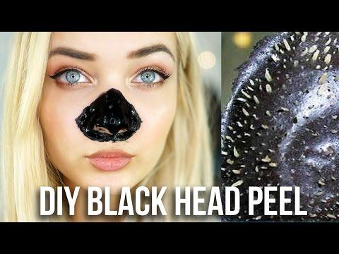 DIY BLACK HEAD NOSE PEEL! BEAUTY HACK TESTED!