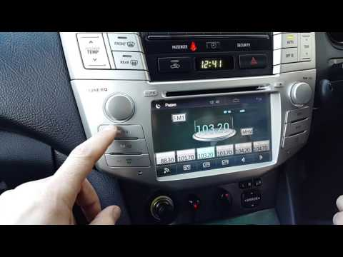 Магнитола на Lexus rx300, Rx330, Rx350,RX H400 2003 Toyota Harrier