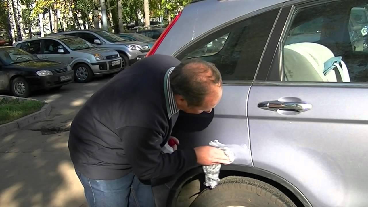 Как убрать мелкие царапины на машине своими руками без полировки