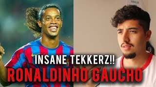 Footballer Reacts to Ronaldinho 14 Ridiculous Tricks That No One Expected