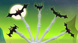 Famille de doigts de chauve-souris | Chanson d'Halloween | Rhymes In French | Bat Finger Family