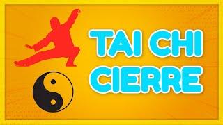Cierre de clase Tai Chi en la plaza