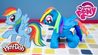 My Little Pony Rainbow Dash Play Doh Tutorial by Kinder Playtime