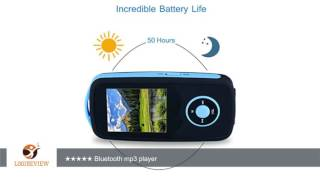 fecpecu music player 16gb bluetooth mp3 player hi fi sound 50 hours playback portable audio player