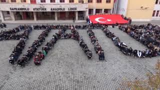 600 ÖĞRENCİ ATATÜRK YAZISI OLUŞTURDU