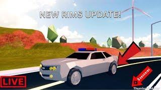 ROBLOX JAILBREAK CRAZY NEW RIM UPDATE || ROBLOX| LIVE|