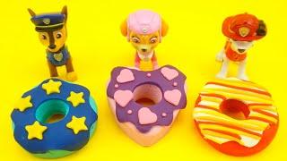 Щенячий патруль, лепим из пластилина пончики для щенков.