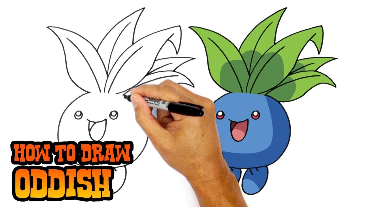 Uncategorized How To Draw Pokemon Pictures how to draw oddish pokemon youtube