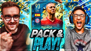 FIFA 20 TOTS Pack&Play on TOTSSF Thiago!! We packed a 1million coin TOTS!!!