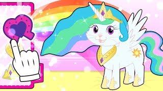 BABY PETS 👶🐱 Kira Dresses up as Princess Pony   Children's Cartoons