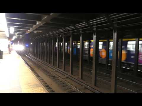 BMT Broadway Line: R160B Siemens N & Q Trains at Prince St-Broadway (Weekend)