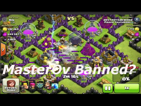 Clash of Clans - MasterOv Officially Banned From Clash of Clans
