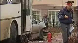 Сюжет про ДТП с участием автобуса №67 в Перми