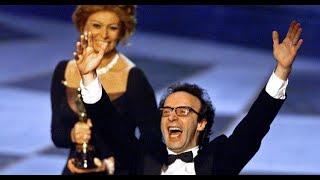 Oscars 1999 Sophia Loren and Roberto Benigni