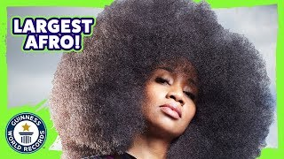 World's largest Afro (female) - Meet The Record Breakers