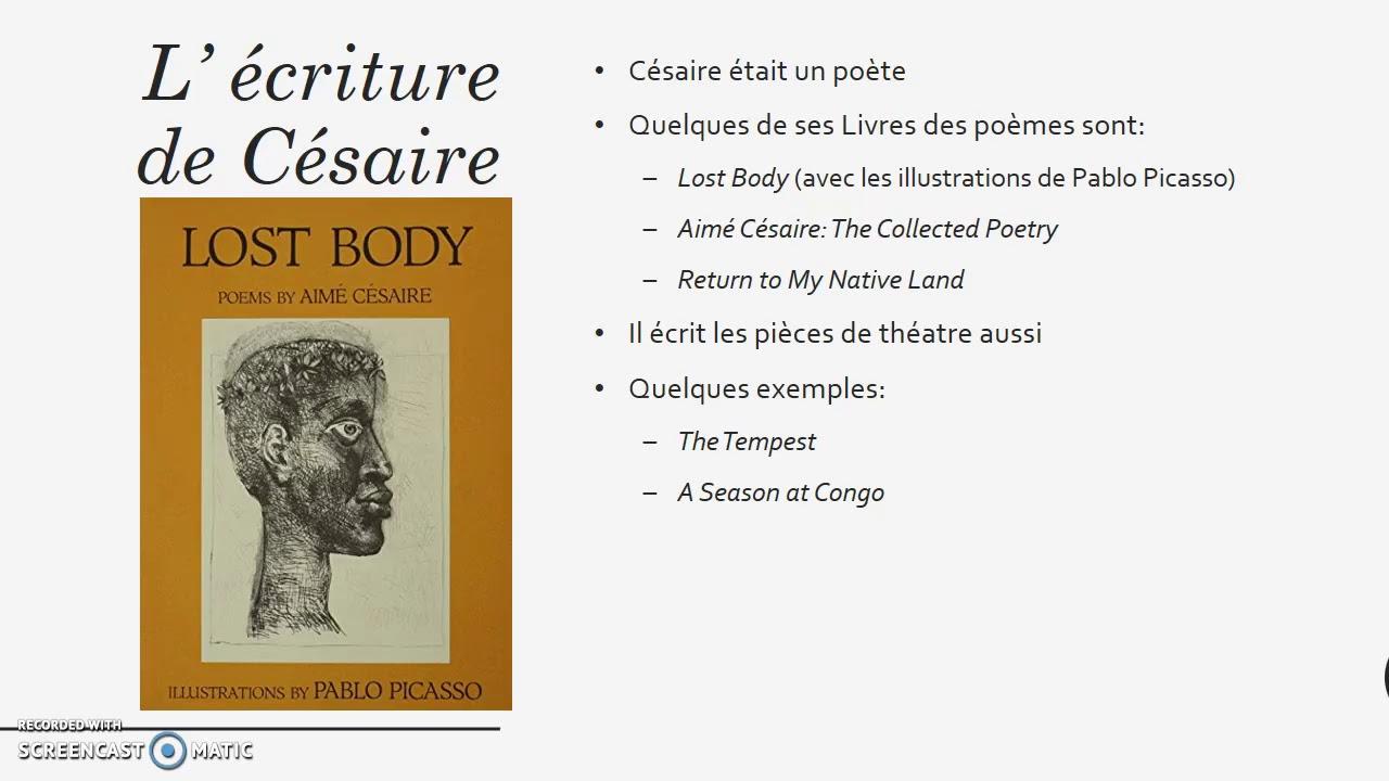 Aimé Césaire Youtube