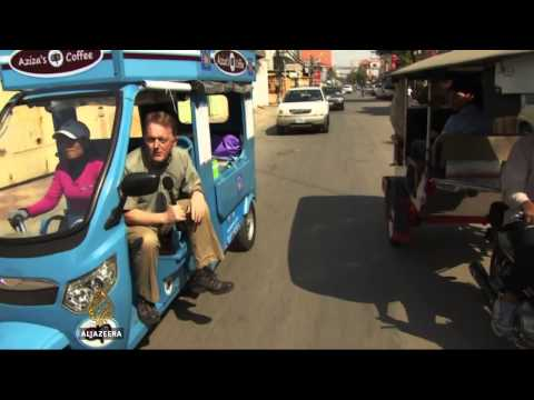 Star8    Cambodia's solar powered tuk tuk deployed to fight air pollution