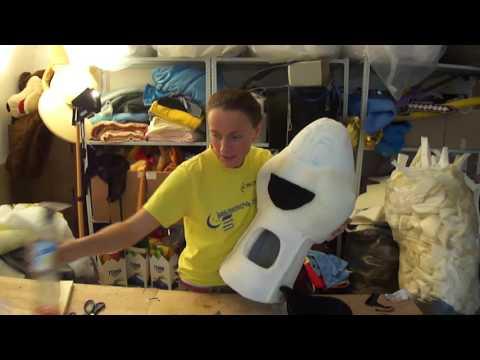 Как сделать голову ростовой кукле Зебра Марти мастер класс