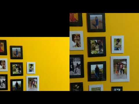 How to create a gallery wall  photo frames