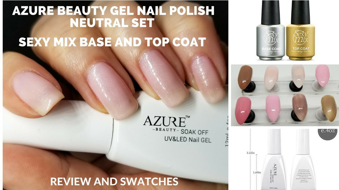 Azure Beauty Gel Nail Polish Neutral Set & Sexy Mix Base and Top ...