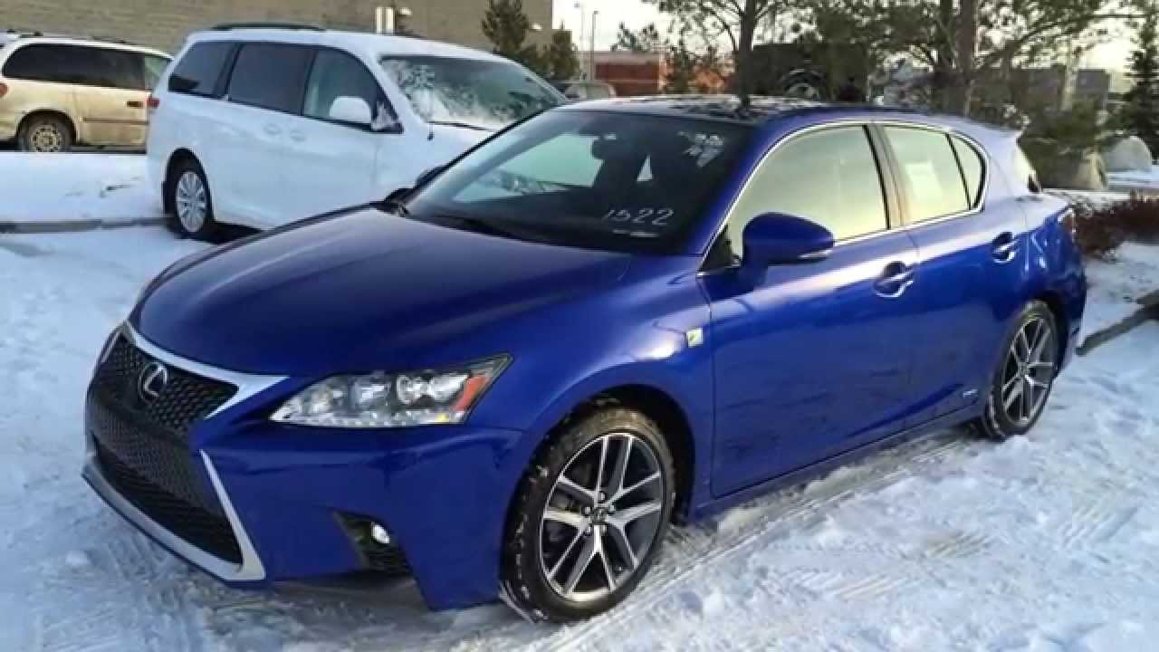 new ultrasonic blue 2015 lexus ct 200h hybrid f sport navigation review west edmonton alberta. Black Bedroom Furniture Sets. Home Design Ideas