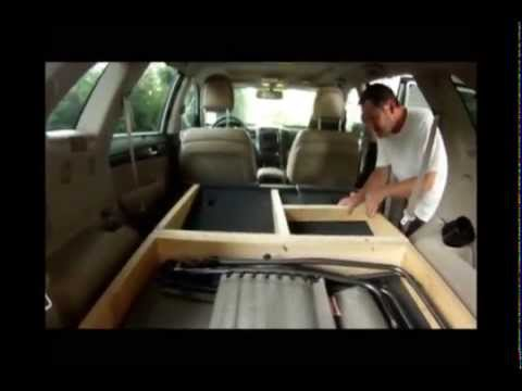 How I made my SUV into an overnight camper - YouTube