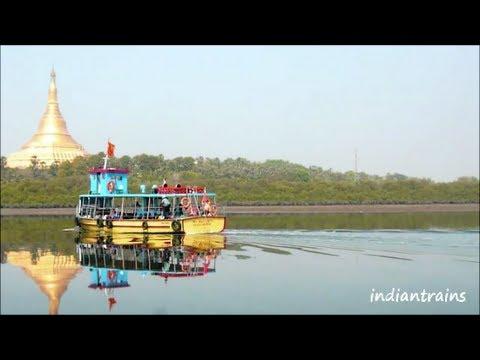 travel india@ beautiful boat trip to gorai beach/essel world/golden pagoda, mumbai city, india