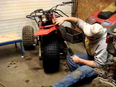 Honda Big Red Wiring Diagram Removing A Honda 185 Atc Front Tire Youtube