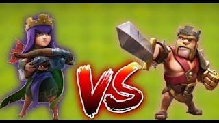 Clash Of Clans Full Seviye Barbar Kral Vs Full Seviye Okçu Kraliçe