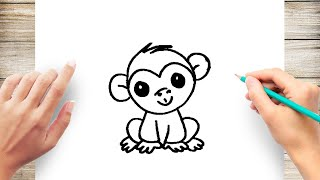 Easy How To Draw Monkey