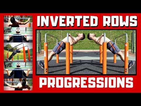 Best INVERTED ROW Progressions. Bodyweight Calisthenics Exercises for Beginners I Back Thickness 101
