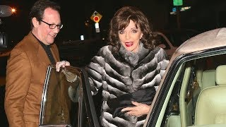 Joan Collins Looking Glamorous For Dinner Date With Husband Percy Gibson