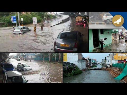 Watch: Heavy rainfall hits Hyderabad