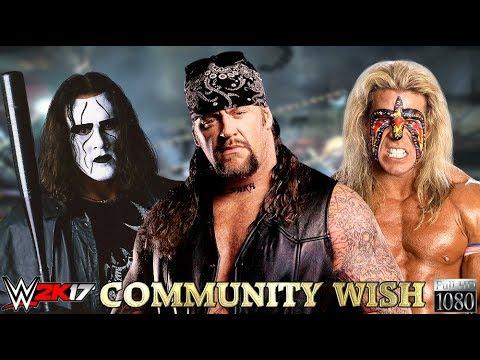 WWE 2K17 GAMEPLAY: Sting VS. Undertaker VS. Ultimate ... Wwe Ultimate Warrior Vs Undertaker