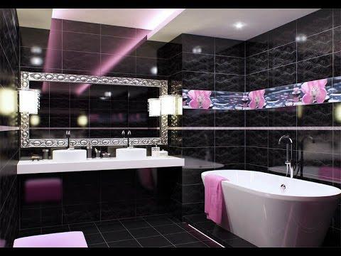 Красивый декор/дизайн ванной, современный ремонт и отделка ванной/Черно-белая ванная/BATHROOM