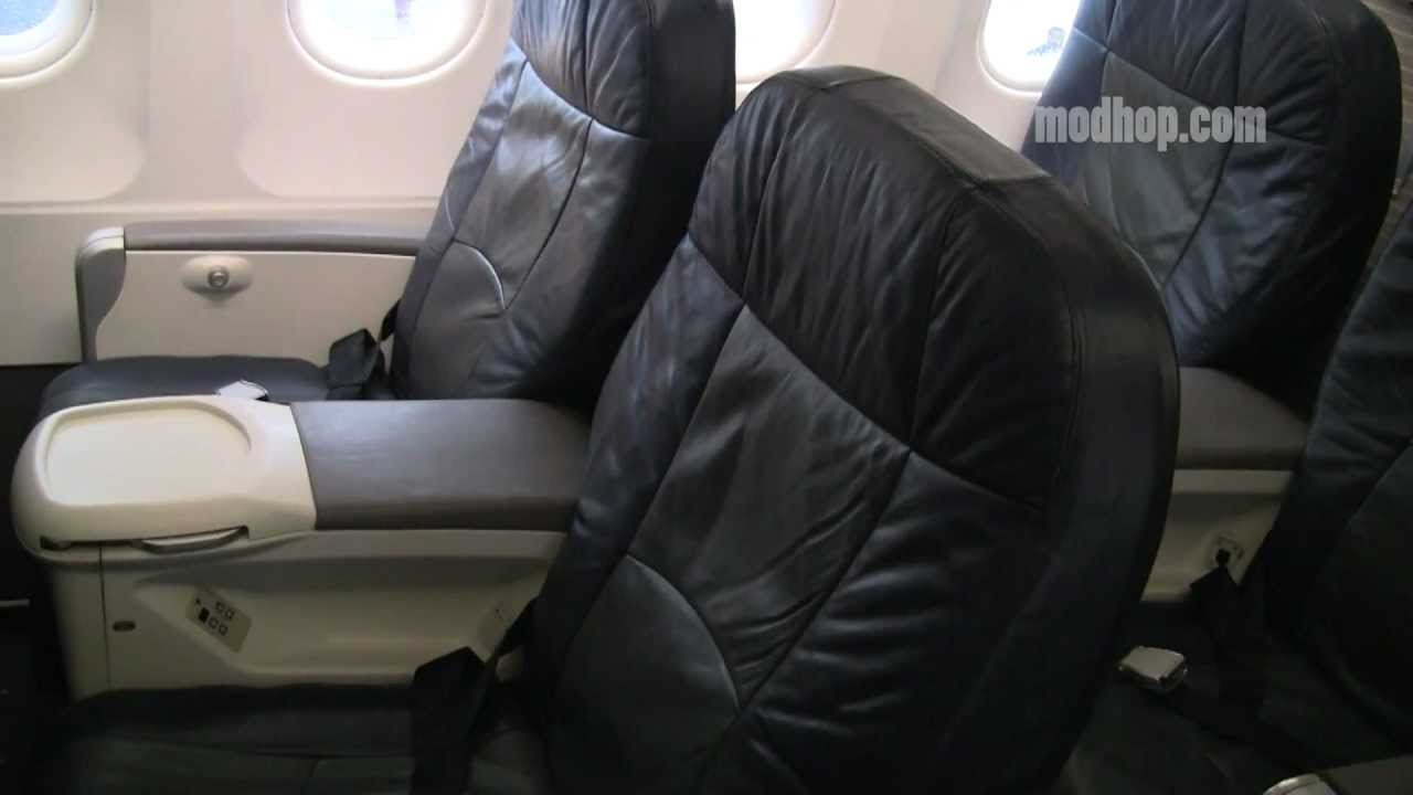 US Airways A319 - First Class Row 2 - YouTube
