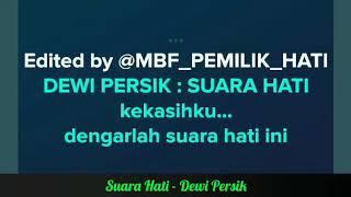 Gambar cover Suara Hati - Dewi Persik | Karaoke