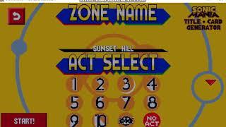 Sonic 3 Title Card Generator