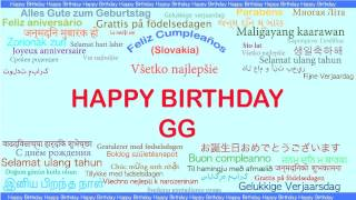 GG   Languages Idiomas - Happy Birthday