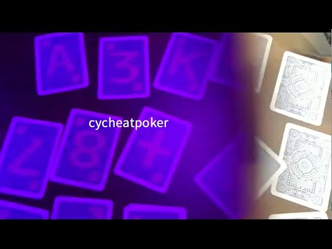 Anti Cheat Poker White Light Marked Card and Poker Contact ...